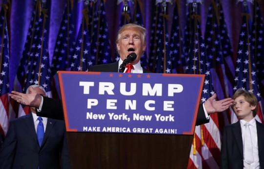 Ông Trump phát biểu thắng cử. Ảnh: Reuters