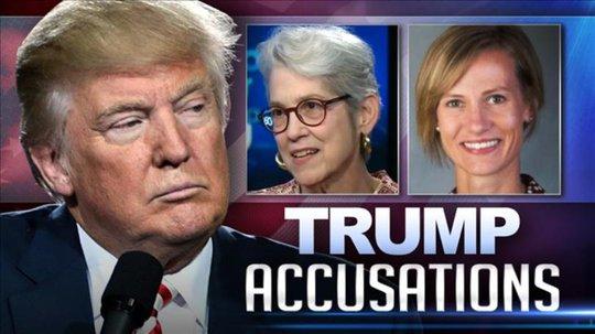 Ông Trump hôm 22-10 dọa kiện tất cả những ai vu khống ông. Ảnh: Wibw