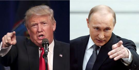 Tổng thống đắc cử Trump đã ca ngợi Tổng thống Nga Vladimir Putin là nhà lãnh đạo mạnh mẽ. Ảnh: TIMES OF ISRAEL