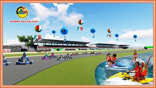 Phối cảnh trường đua Đại Nam (Ảnh trên trang Facebook Trường đua Đại Nam)