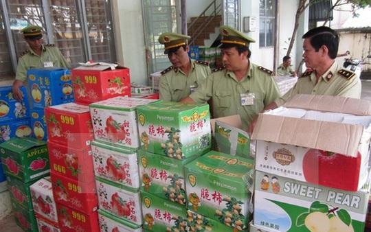 Trái cây Trung Quốc bị thu giữ
