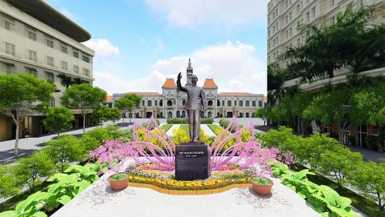 Phối cảnh khu vực Tượng đài Chủ tịch Hồ Chí Minh