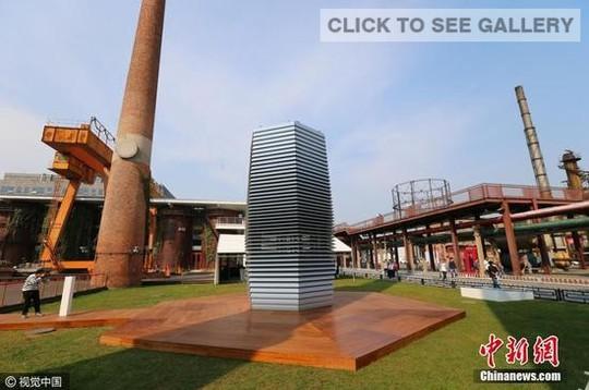 Tháp làm sạch không khí Smog Free Tower. Ảnh: CFP