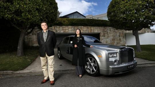 Công ty bất động sản Sydney Sotheby's dẫn khách Trung Quốc đi xem nhà bằng xe Rolls Royce Ảnh: DOMAIN.COM.AU