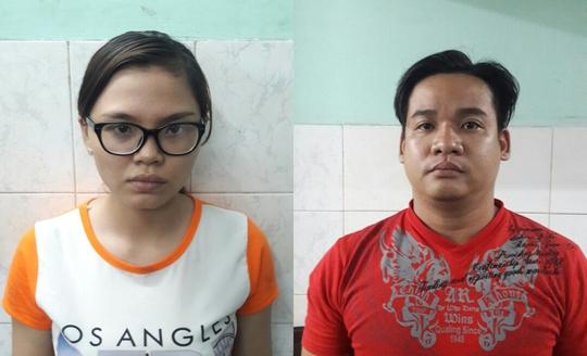 Hai vợ chồng Lê Ngọc Dung (24 tuổ) và Trần Tấn Lộc (28 tuổi, cùng ngụ quận 3)
