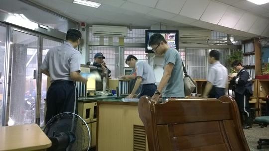 Bên trong đồn cảnh sát Cijin