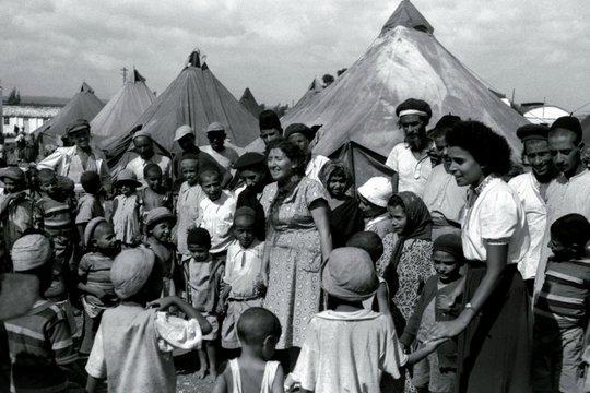 Người Do Thái nhập cư từ Yemen tại một khu trại ở Israel năm 1949. Ảnh: REUTERS