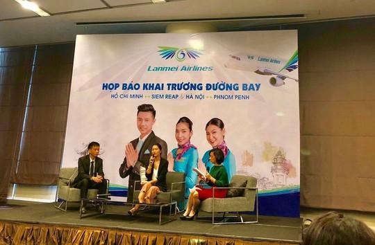 Lanmei Airlines khai trương đường bay thẳng Phnôm Pênh - Hà Nội và Siem Reap - TP HCM - Ảnh 1.
