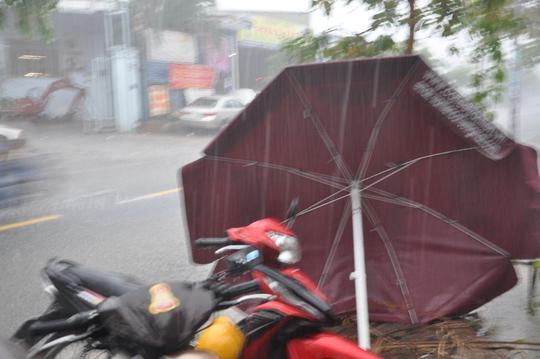 Mưa cùng gió giật mạnh bất ngờ đổ xuống trên diện rộng tại TP HCM
