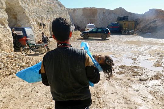 Một nạn nhân trẻ em trong vụ tấn công ngày 4-4