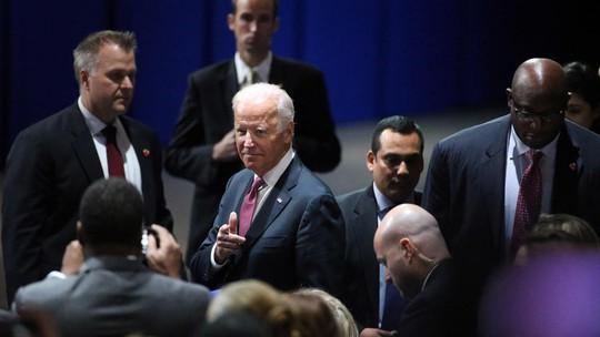 Phó Tổng thống Joe Biden tham dự buổi nói chuyện hôm 10-1.