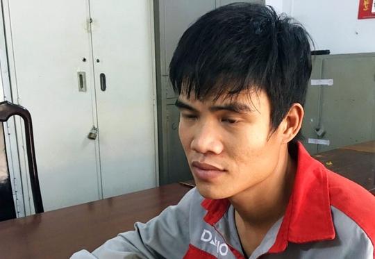 Chu Văn Hùng tại cơ quan công an.
