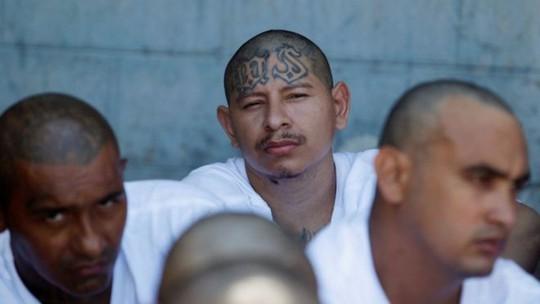 Thành viên băng đảng tội phạm ở El Salvador được nhận dạng bằng hình xăm trên mặt hoặc cơ thể. Ảnh: REUTERS