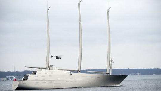 Siêu du thuyền Sailing Yacht A. Ảnh: EPA