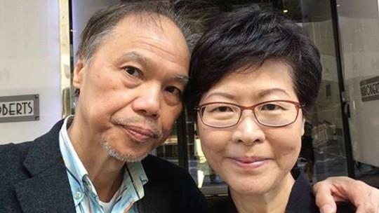 Bức ảnh chụp vợ chồng ông Lam vào ngày Lễ Tình nhân 14-2. Ảnh: SCMP