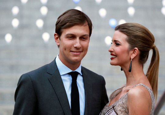 Vợ chồng Jared Kushner và Ivanka Trump. Ảnh: JERUSALEM POST