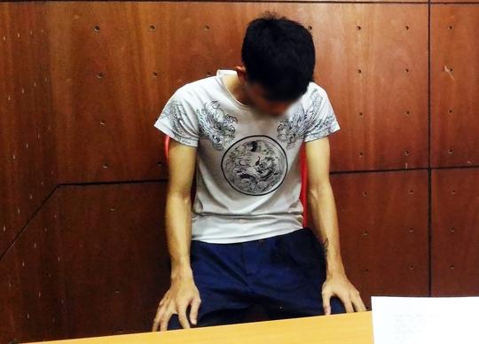 Nghi can Nguyễn Thanh Tú tại cơ quan công an. (Ảnh: CA)
