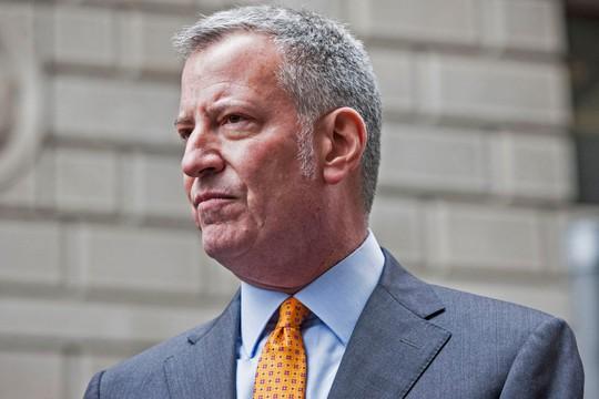 Thị trưởng New York Bill de Blasio. Ảnh: THE NEW YORK POST