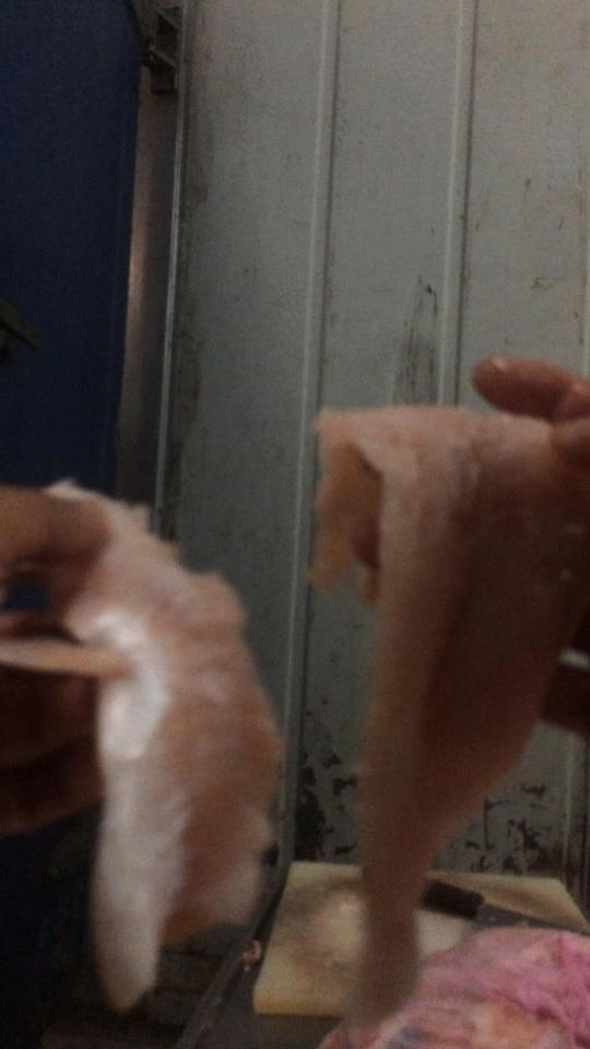 Cá ươn bốc mùi thối được cơ sở Thành Huy dùng chế biến thành khẩu phần ăn cho công nhân