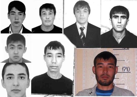 Các nghi phạm trong vụ tấn công cảnh sát Nga. Ảnh: CRIME RUSSIA