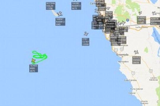 Máy bay quân sự Mỹ quần thảo ngoài khơi bang California. Ảnh: DAILY MAIL