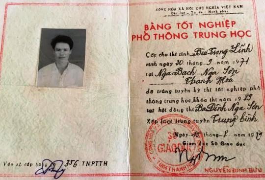 Tấm bằng THPT của ông Bùi Trọng Lĩnh không có trong danh sách cấp bằng của Sở GD-ĐT Thanh Hóa, số vào sổ là của một người khác ở huyện Nga Sơn