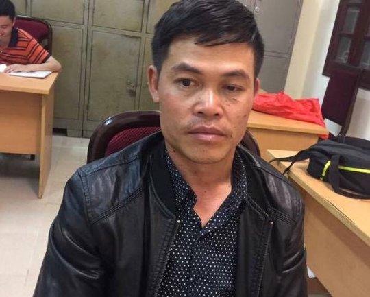 Chu Thế Quang tại cơ quan công an