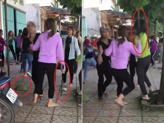 Điều tra 2 nhóm thiếu nữ dùng hung khí đánh nhau - Ảnh 1.