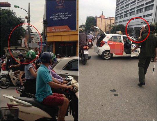 Bị CSGT dừng xe, tài xế taxi ăn vạ rồi nói mới ra tù - Ảnh 1.