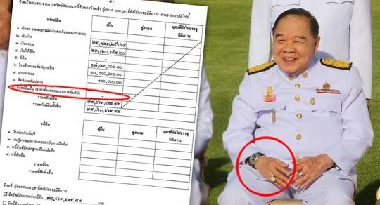 Lấy tay che nắng, phó thủ tướng Thái Lan lộ đồng hồ sang - Ảnh 1.