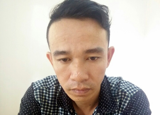 Đối tượng Nguyễn Minh Hoàng tại cơ quan chức năng.