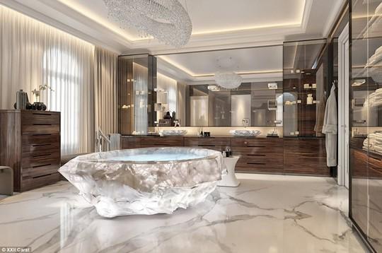 Biệt thự phức hợp Carat XXII được xây dựng trên khu Palm Jumeriah nổi tiếng ở Dubai có các phòng tắm chính với bồn tắm trị giá 1 triệu USD.