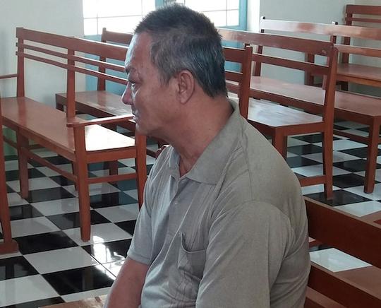 Bị cáo Trần Văn Vũ tại toà. Ảnh: N.Hồng