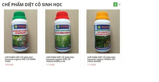 """Sản phẩm thuốc diệt cỏ """"an toàn"""" được giới thiệu trên website Công ty Công nghệ Cát Tường"""
