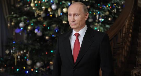Tổng thống Putin chúc mừng năm mới. Ảnh: Ảnh: Sputnik.