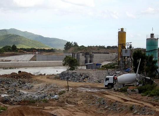 Hệ thống thủy lợi Tân Mỹ đang được thi công