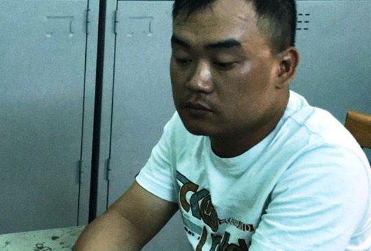 Phạm Khắc Tường tại cơ quan công an