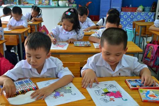 Nhiều ý kiến cho rằng không nên nhồi nhét quá nhiều kiến thức cho học sinh tiểu học như chương trình mới đặt ra Ảnh: TẤN THẠNH