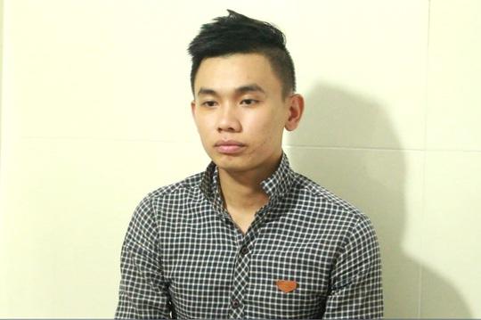 Đối tượng Võ Nguyễn Viết Tiến tại cơ quan chức năng.
