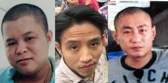 Ba đối tượng Huỳnh Ngọc Sang, Nguyễn Thanh Sang và Nguyễn Đăng Khoa.
