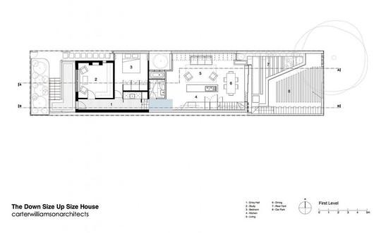 Bản vẽ thiết kế của toàn bộ không gian của ngôi nhà.