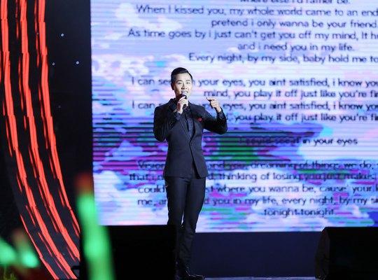 Kỹ thuật lyric video giúp thí sinh giới thiệu ca khúc mới đến với công chúng thuận lợi hơn khi trình diễn Ảnh: LEEFONG