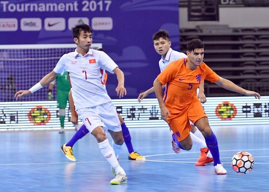 Cầm hòa Hà Lan 2-2, tuyển futsal Việt Nam xếp hạng ba ở giải futsal tứ hùng Trung Quốc