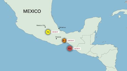 Hai trận động đất mới rung chuyển miền Nam Mexico - Ảnh 1.