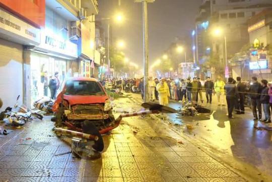 Hiện trường vụ tai nạn - Ảnh: CTV