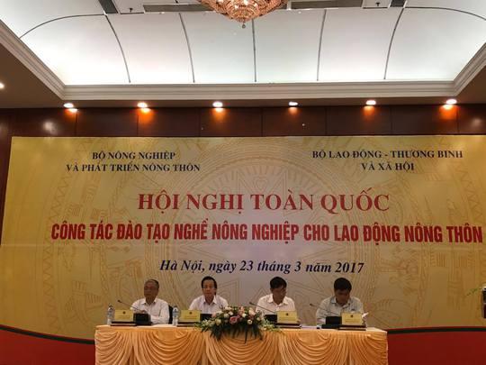 Tại hội nghị này, Bộ trưởng LĐ-TB-XH Đào Ngọc Dung đề nghị làm rõ có hay không tình trạng đào tạo nghề cho lao động nông thôn theo kiểu Đánh trống ghi tên để chi tiền- Ảnh: Văn Duẩn