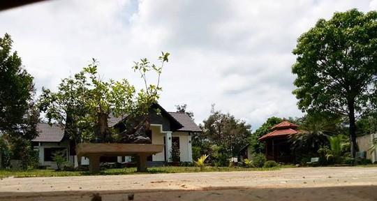 Một góc công trình biệt thư, nhà vườn của ông Nguyễn Văn Đấu