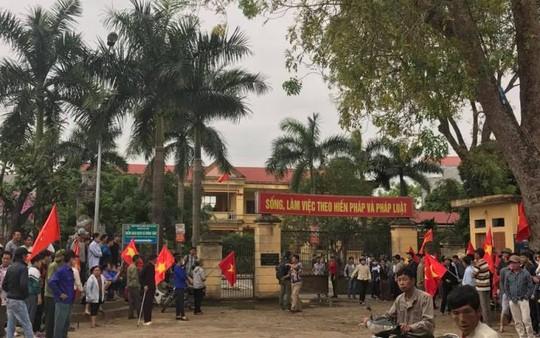 Trụ sở UBND xã Đồng Tâm đặt tại thôn Hoành, nơi diễn ra cuộc đối giữa Chủ tịch UBND TP Hà Nội với người dân xã Đồng Tâm
