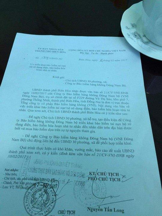 Văn bản do vị phó chủ tịch TP ký đã ban hành đến người dân