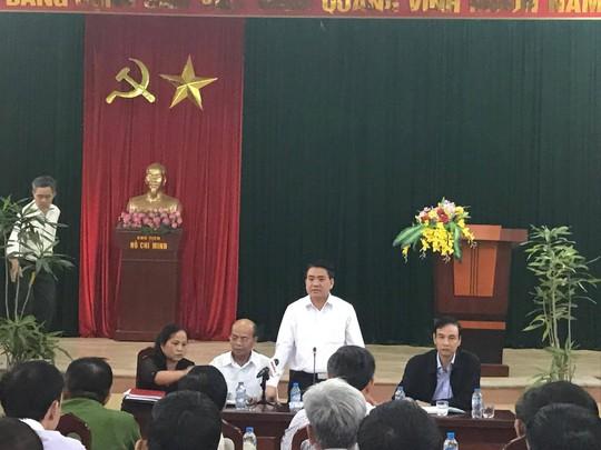 Chủ tịch UBND TP Hà Nội Nguyễn Đức Chung phát biểu
